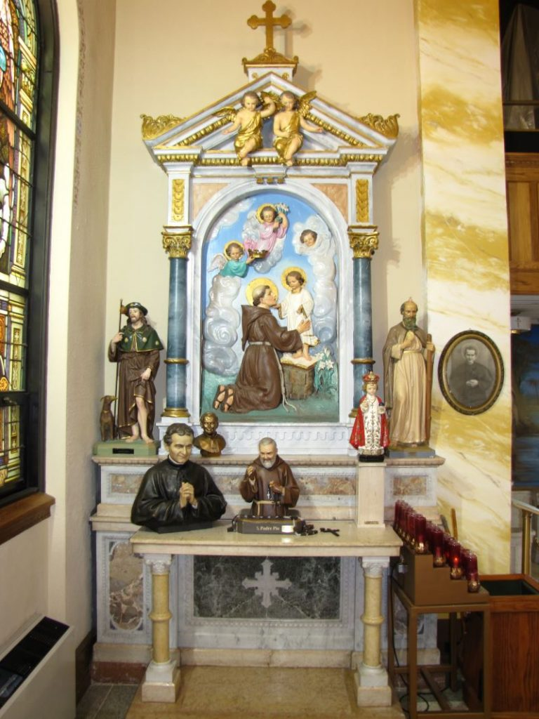 The St. Anthony altar at St. Michael Church